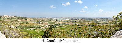Malta Countryside Panoram - 150 degree panorama of Maltese...