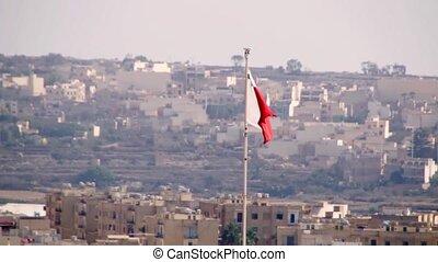 Malta flag close up