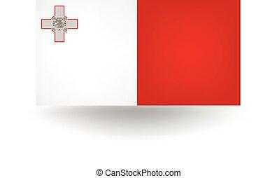 Malta Flag - Official flag of Malta.
