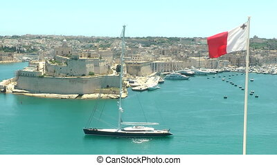 Malta Grand Harbor - The Grand Harbor in Vallletta, Malta.
