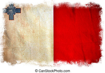 Malta grunge flag