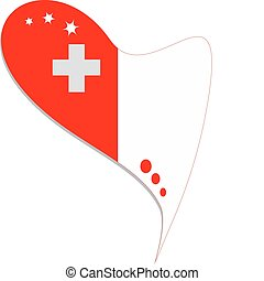 malta in heart. Icon of malta national flag. vector - malta...