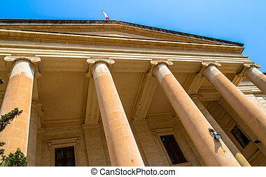 Malta Law Courts - Malta law courts in the republic street...