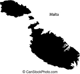 malta, mapa