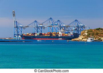 malta., récipient, marsachlokk., terminal.