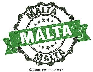 Malta round ribbon seal