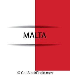 Malta text on special background allusive to the flag