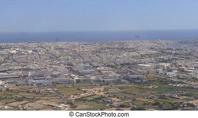 Malta, Valletta city aerial view