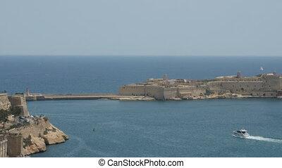 Malta, Valletta - July 1st, 2016:View from Upper Baraka...