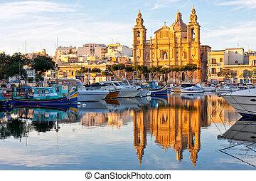 Malta view at golden hour