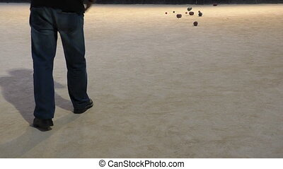 Malta,two local men playing boules - Malta island. Two...