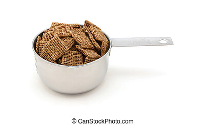 Malted shredded wheat biscuits breakfast cereal in a ...
