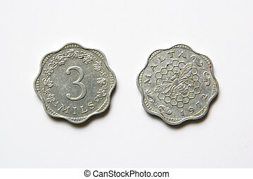 Maltese 3 Mils Coins (before Euro)