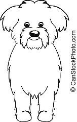 Maltese cartoon dog icon