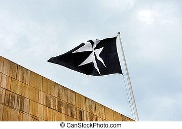 Maltese cross on a flag
