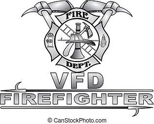 Maltese Fire Cross Vector - Grey gradient great Fire Dept ...