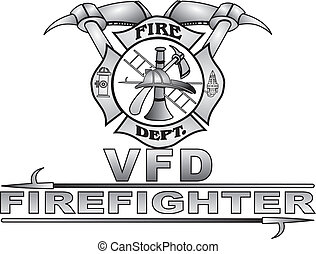 Maltese Fire Cross Vector - Grey gradient great Fire Dept...