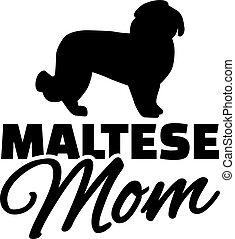 maltesisch, hund, mutti