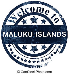 Maluku islands stamp on white background