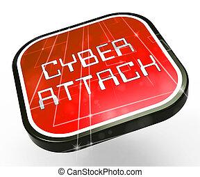 malveillant, infected, pirate informatique, spyware, illustration, cyberattack, 3d