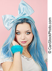 Malvina with the blue hair