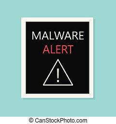 malware alert concept- vector illustration