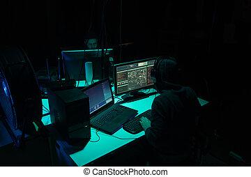 malware, betrug, hackers, gebrauchend, concept., blockchain, virus, cryptocurrency, hintergrund., ddos, edv, interface., u-bahn, cyberattack, software, machen