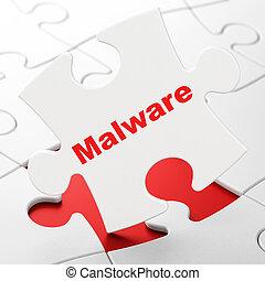 malware, concept:, puzzle, fond, intimité