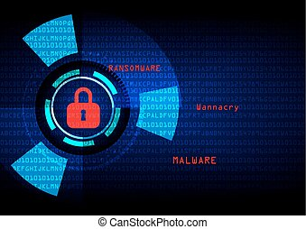 Malware Ransomware wannacry virus encrypted files....