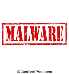 Grunge rubber stamp with text Malware, vector illustration