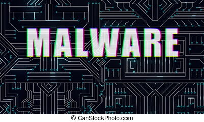 Malware text against microprocessor in background - ...