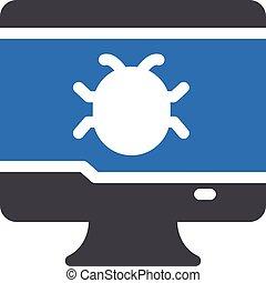malware vector glyph colour  icon