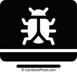 malware vector glyph flat icon