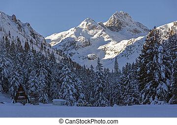 malyovitsa, bergstopp, rila, fjäll