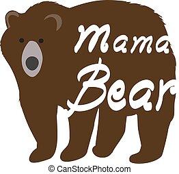 Mama Bear - vector mama bear