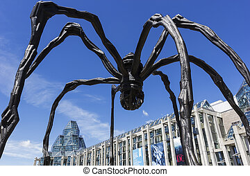 Maman sculpture in front of National Gallery in Ottawa, Canada
