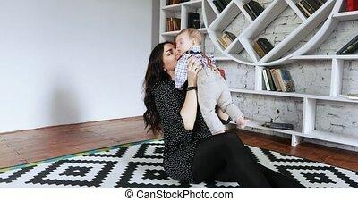 mamans, photo, séance, bébé