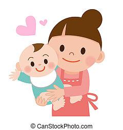 mami y bebé