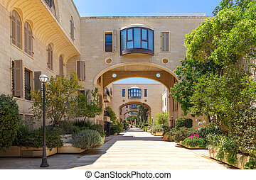 Mamilla Kfar David neighborhood in Jerusalem, Israel.
