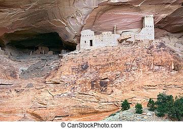mamma, grotta, kanjon, del, muerto, fördärvar