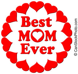 mamma, hjärtan, någonsin, bäst