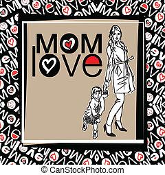 mamma, kärlek