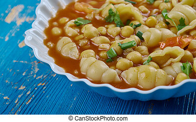 Mama Mia's Minestrone Soup - Italian soup with pasta and chickpeas