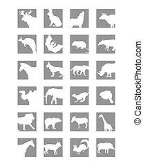 mammals, pictogram