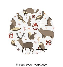 Mammals vector collection