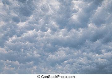Mammatus clouds background
