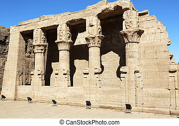 Mammisi is a small by colonnaded flanked building, was a shrine to the goddess Hathor of Dendara, Edfu Temple Egypt