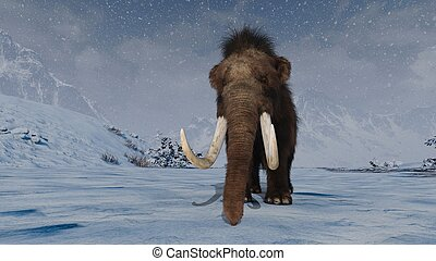 Mammoth - 3D CG rendering of a mammoth.
