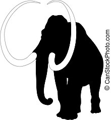 Mammoth - Abstract vector illustration of mammoth
