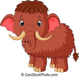 mammoth cartoon - illustration of mammoth cartoon